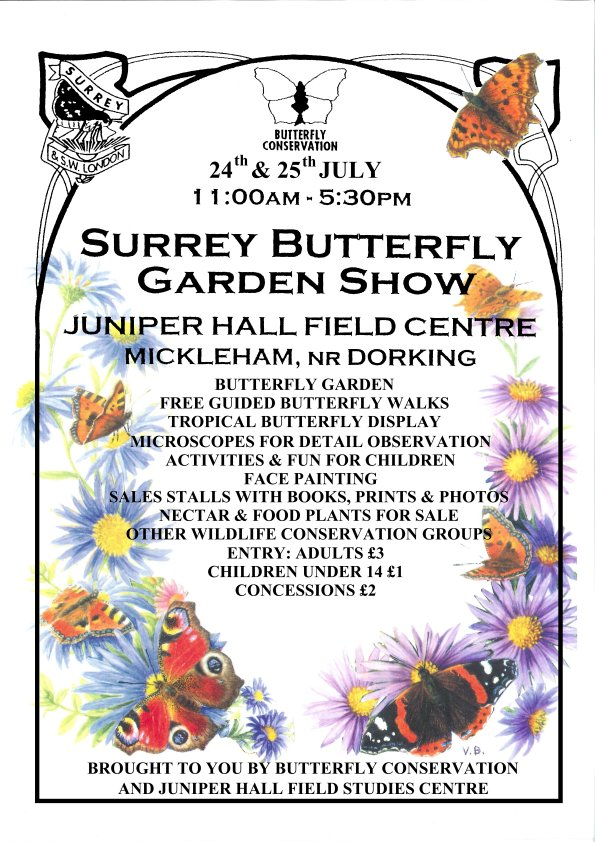 Surrey Butterfly Garden Show 24, 25 July